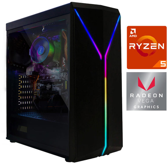Pc Gamer Xtreme Amd Ryzen 5 3400G Radeon 8Gb Disco 1Tb Graficos Radeon Vega 11