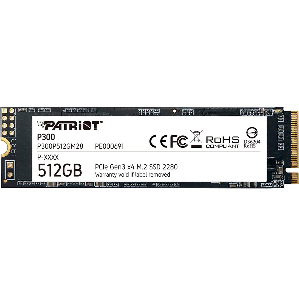 Unidad de Estado Solido SSD M.2 512GB PATRIOT P300 NVMe PCIe GEN3 P300P512GM28