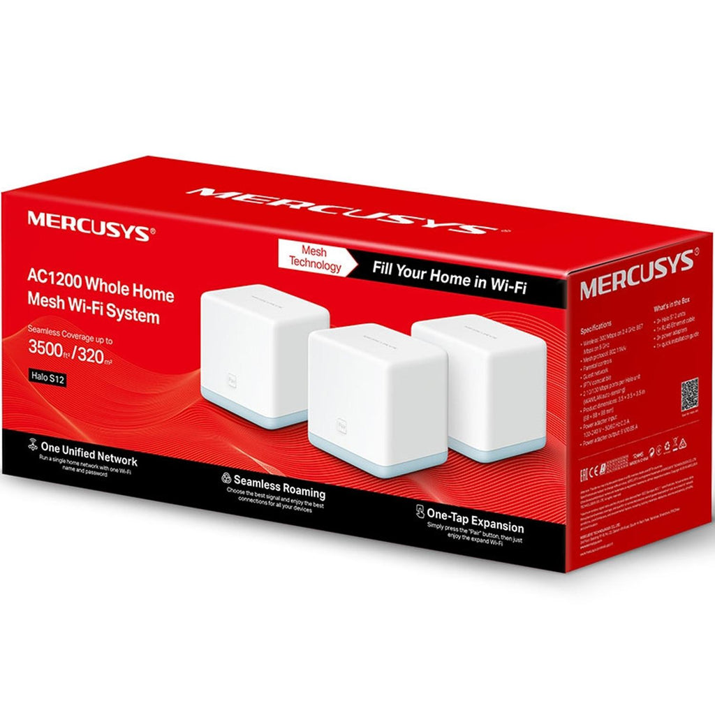 Access point Tp-link Mercusys Halo S12 Ac1200 3 Pack Sistema Mesh