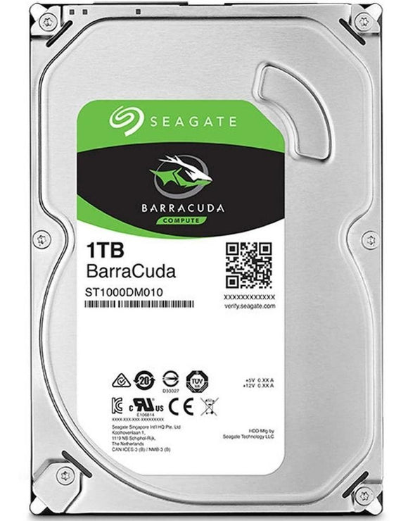 Disco Duro Interno 1TB Seagate Barracuda 7200RPM 3.5 SATA III ST1000DM010
