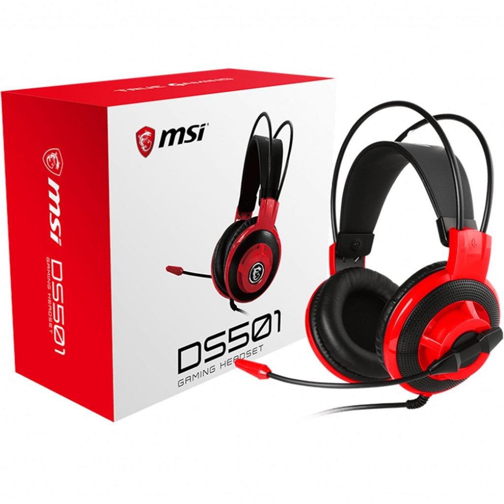 Audifono Diadema Gamer MSI DS501 Gaming Headset Microfono 3.5MM