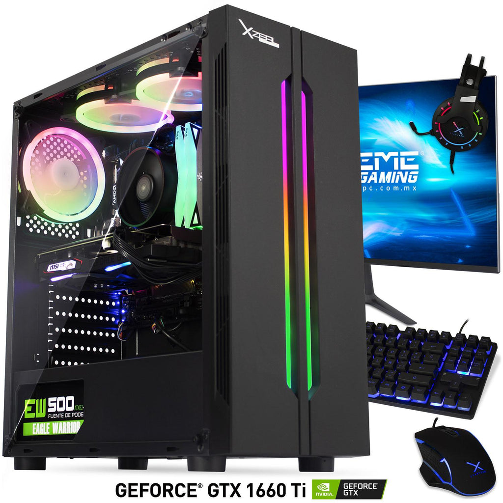 Xtreme PC Gamer Geforce GTX 1660 TI Ryzen 5 16GB SSD 500GB Monitor 24 144Hz