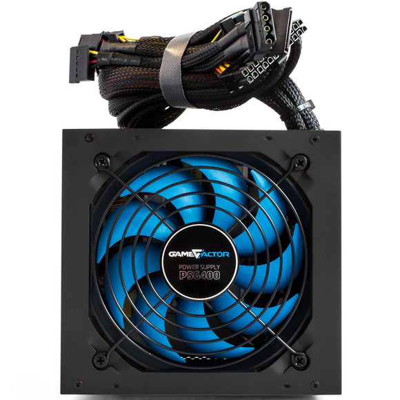 Fuente de Poder GAME FACTOR 400W 80Plus Bronze PSG400