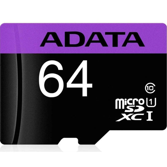 Memoria Micro SD 64GB ADATA Clase 10 Video Full HD AUSDX64GUICL10-RA1