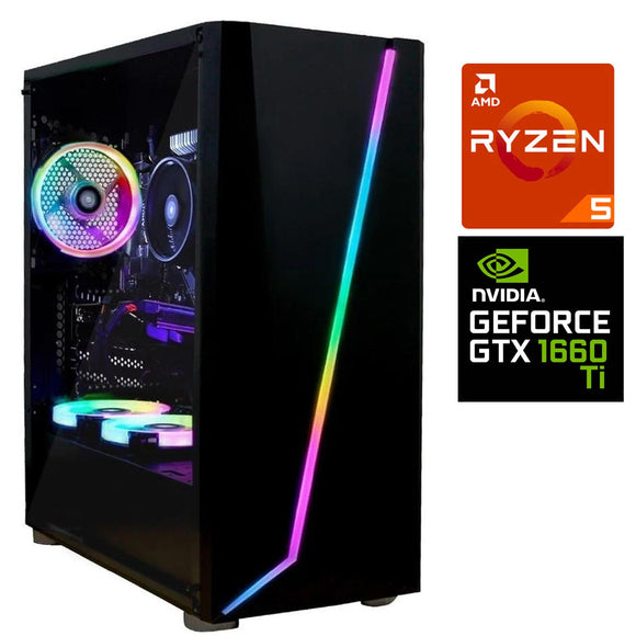 Pc Gamer Xtreme Amd Ryzen 5 2600 Ram 8Gb Disco 1Tb Unidad Ssd 240Gb Nvidia Gtx 1660 Ti