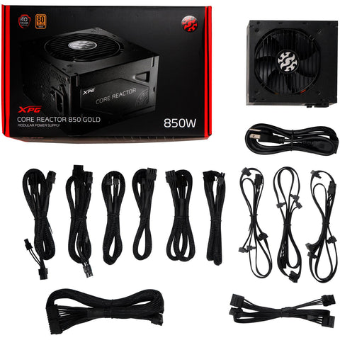 Fuente De Poder PC Gamer XPG CORE REACTOR 850W Modular 80 Plus Gold