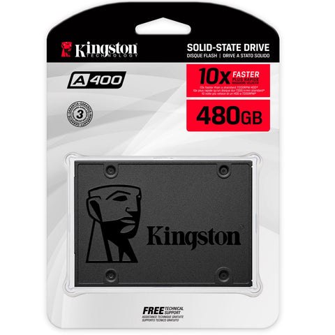 Unidad de Estado Solido SSD 480GB KINGSTON A400 Sata 2.5 SA400S37/480G