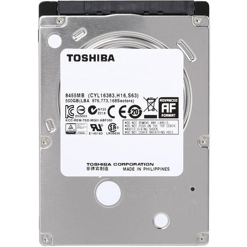 Disco Duro Interno 500GB TOSHIBA Mobile 5400RPM 2.5 SATA III MQ01ACF050