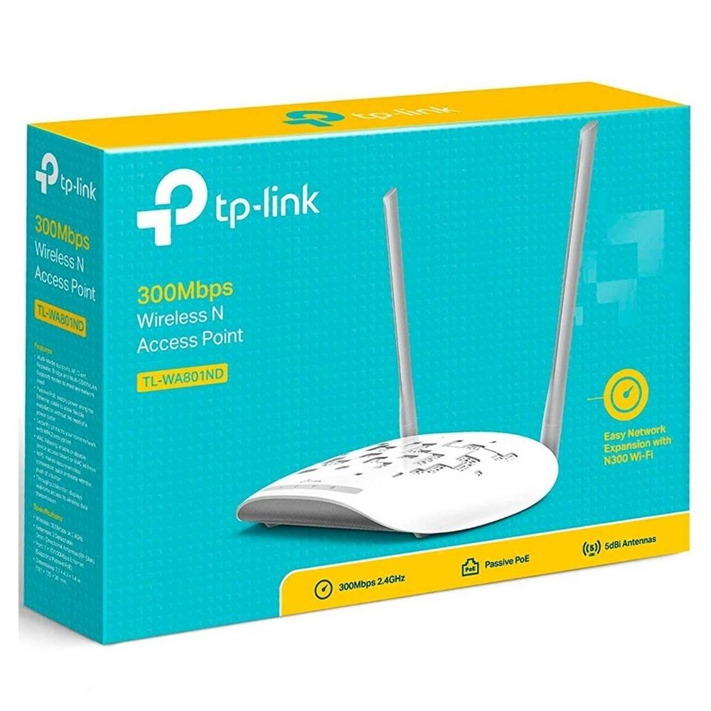 Access Point TP-LINK TL-WA801ND N300 2.4Ghz 802.11n 300Mbps