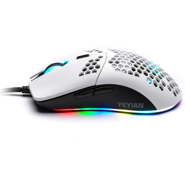 Mouse Gamer YEYIAN LINKS Series 3000 RGB 7200dpi 6 Botones Blanco YMG-24311