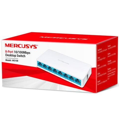 Switch MERCUSYS MS108 Mini Fast Ethernet 8 Puertos RJ45 10/100Mbps