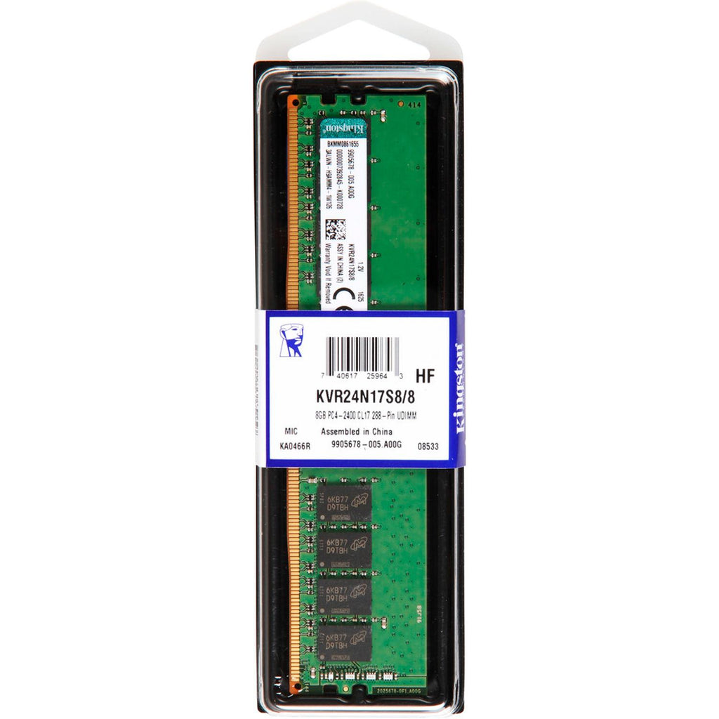 Memoria RAM DDR4 8GB 2400MHz KINGSTON Premier KVR24N17S8/8