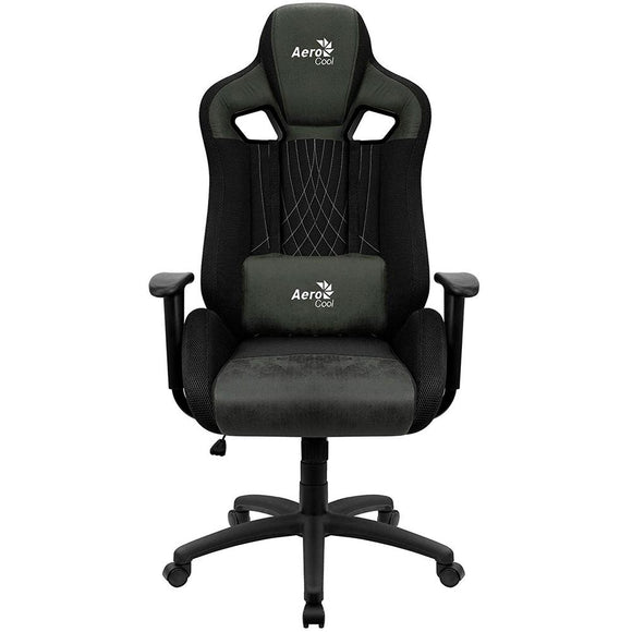 Silla Gaming AEROCOOL EARL HUNTER GREEN Traspirable Ergonomico Polipiel