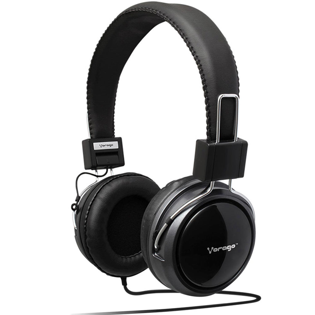 Audifono VORAGO 300 HeadPhones2 Jacks Negro HP-300C
