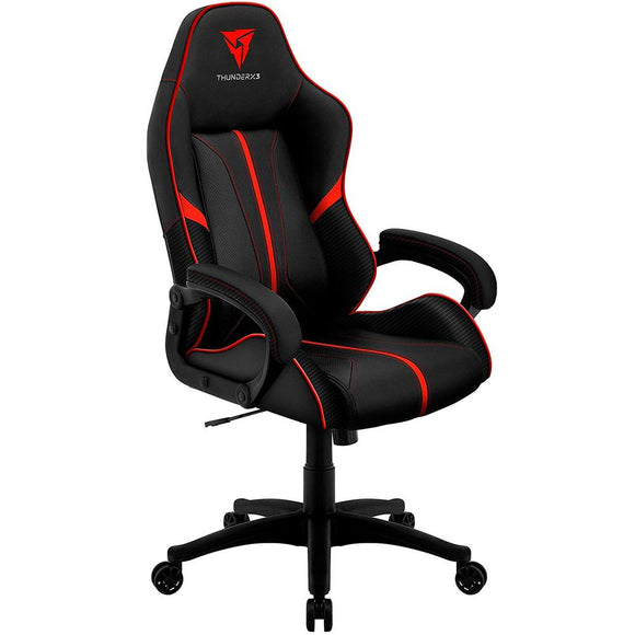 Silla Gamer THUNDER X3 BC1 Cuero Sintentico Transpirable Negro / Red