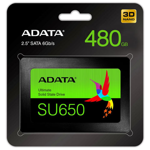 SSD 480GB Disco Duro Estado Solido ADATA SU650 Laptop PC 2.5 ASU650SS-480GT-R