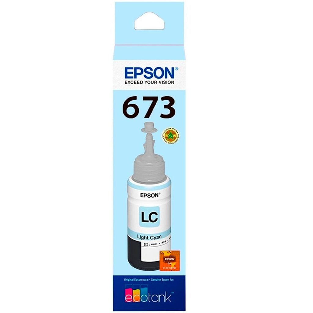 Botella Tinta EPSON T673 L800 L805 L810 L850 L1800 Cyan Light 70ml T673520-AL