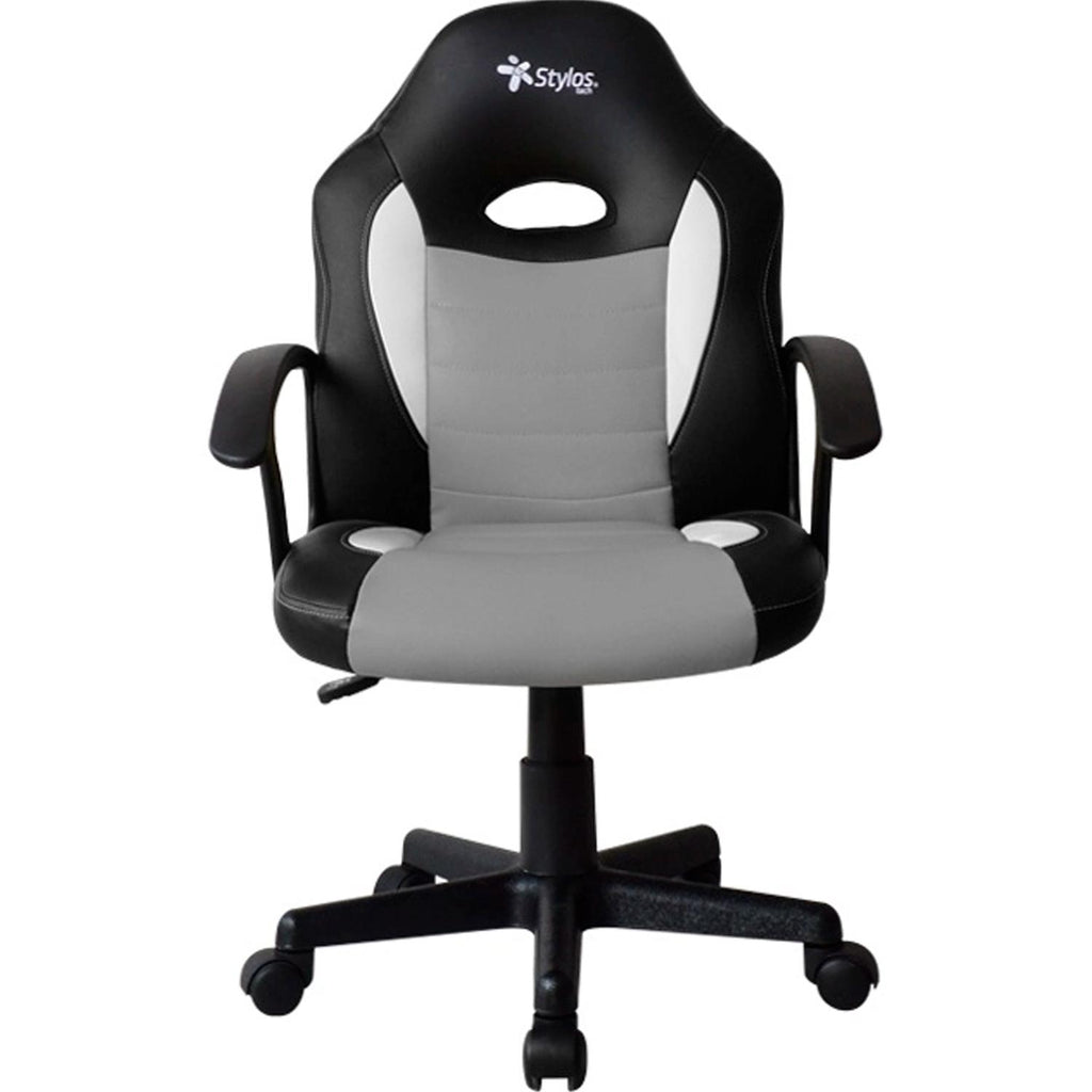 Silla Gamer STYLOS STGAME1 Ergonomico Gris STGSGR1S