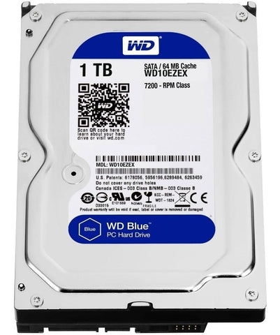 Disco Duro Interno 1TB Western Digital Blue 7200RPM 3.5 SATA III WD10EZEX