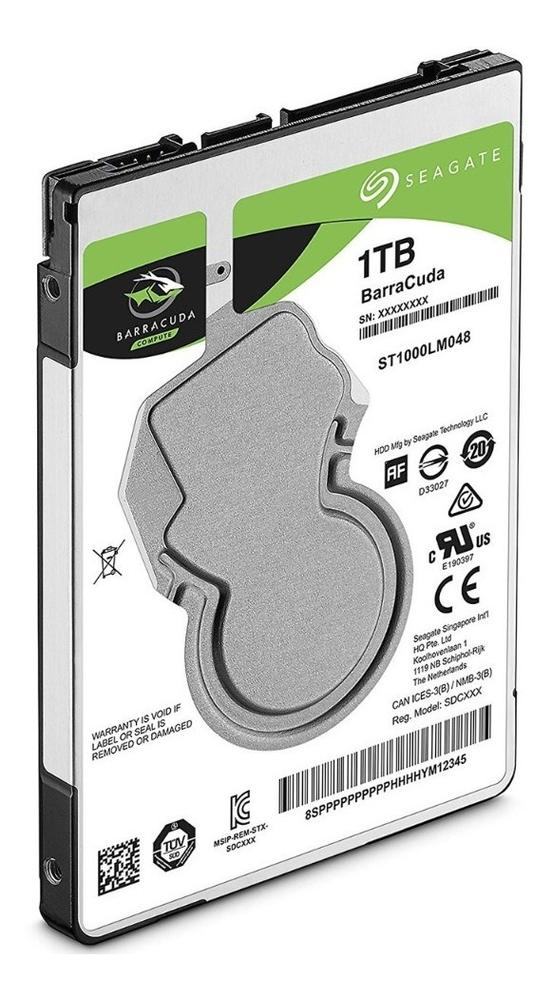 Disco Duro 1TB Laptop SEAGATE Barracuda 2.5'' 5400RPM 7MM ST1000LM048