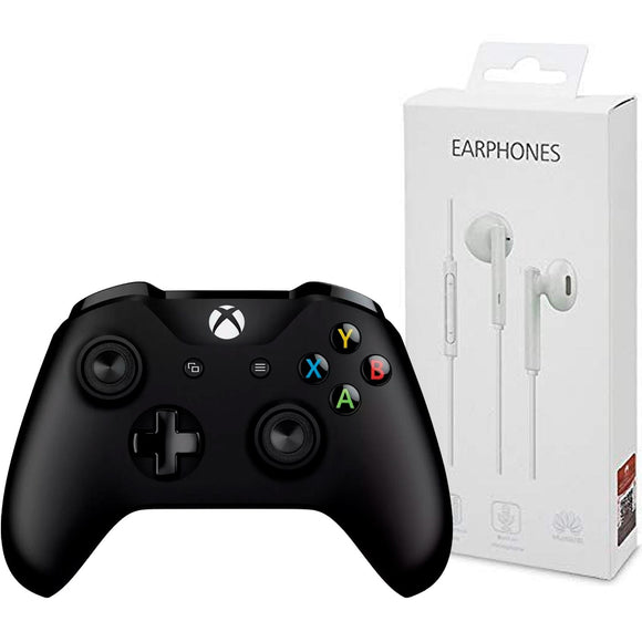Kit Gamer Control XBOX ONE MICROSOFT 4N6-00001 + Audifonos HUAWEI AM115
