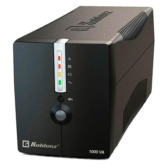 No Break KOBLENZ 10017 USB/R 1000VA 500W 8 Contactos 43 Minutos 00-4233-3