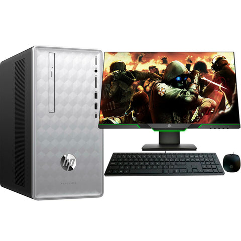 PC Gamer HP I5 8400 8GB 2TB SSD 16GB Optane WiFi GTX 1050TI 4GB Win10 Monitor 25X 144Hz 590-P0027C