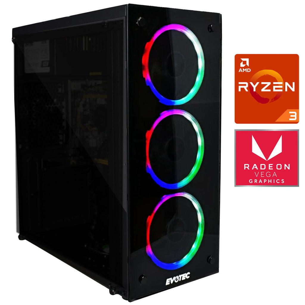 Pc Gamer Xtreme Amd Ryzen 3 3200g Ram 8Gb Disco 1tb Graficos Radeon Vega 8 Fortnite