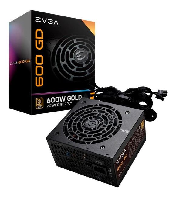 Fuente de Poder PC 600W Gamer EVGA 80 Plus Gold 100-GD-0600-V1