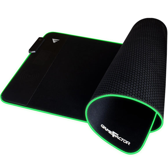 Mouse Pad Gamer RGB Cargador inalambrico QI GAME FACTOR MPG600