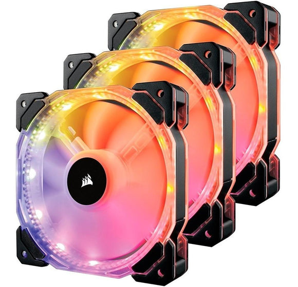 Ventilador CORSAIR HD120 RGB 120MM Con Controlador 3Pack CO-9050067-WW