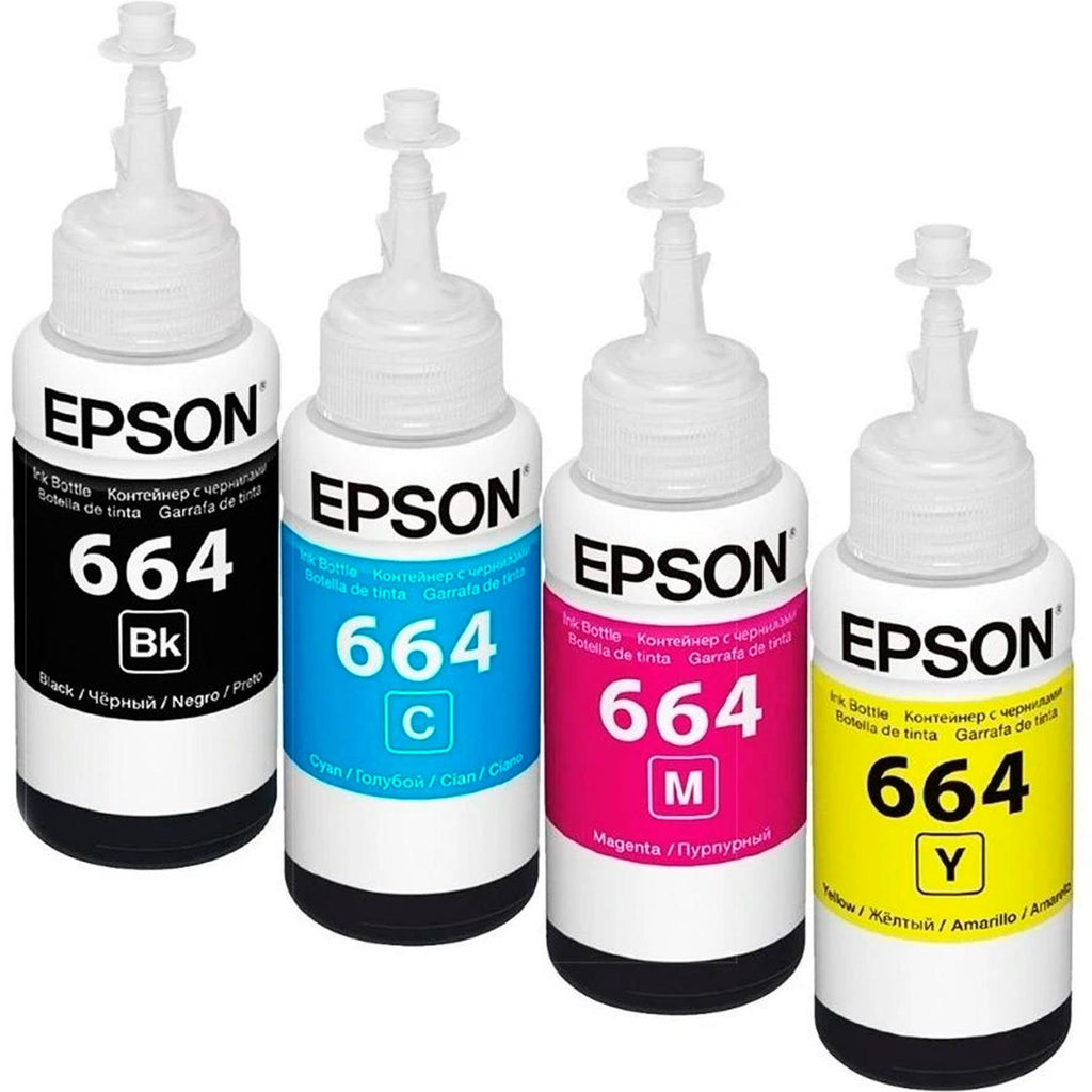 Kit 4 Botellas Tinta EPSON T664 Color L310 L380 L375 L395 L575 L1300