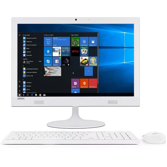 All In One LENOVO Ideacentre 330-20AST AMD A6 9200 4GB 1TB 19.5 Blanco F0D8000ALD
