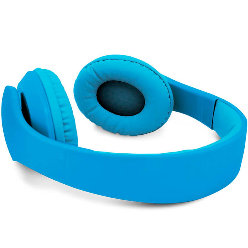 VORAGO Diadema HeadPhones 204 Super Bass Manos Libres Azul HP-204
