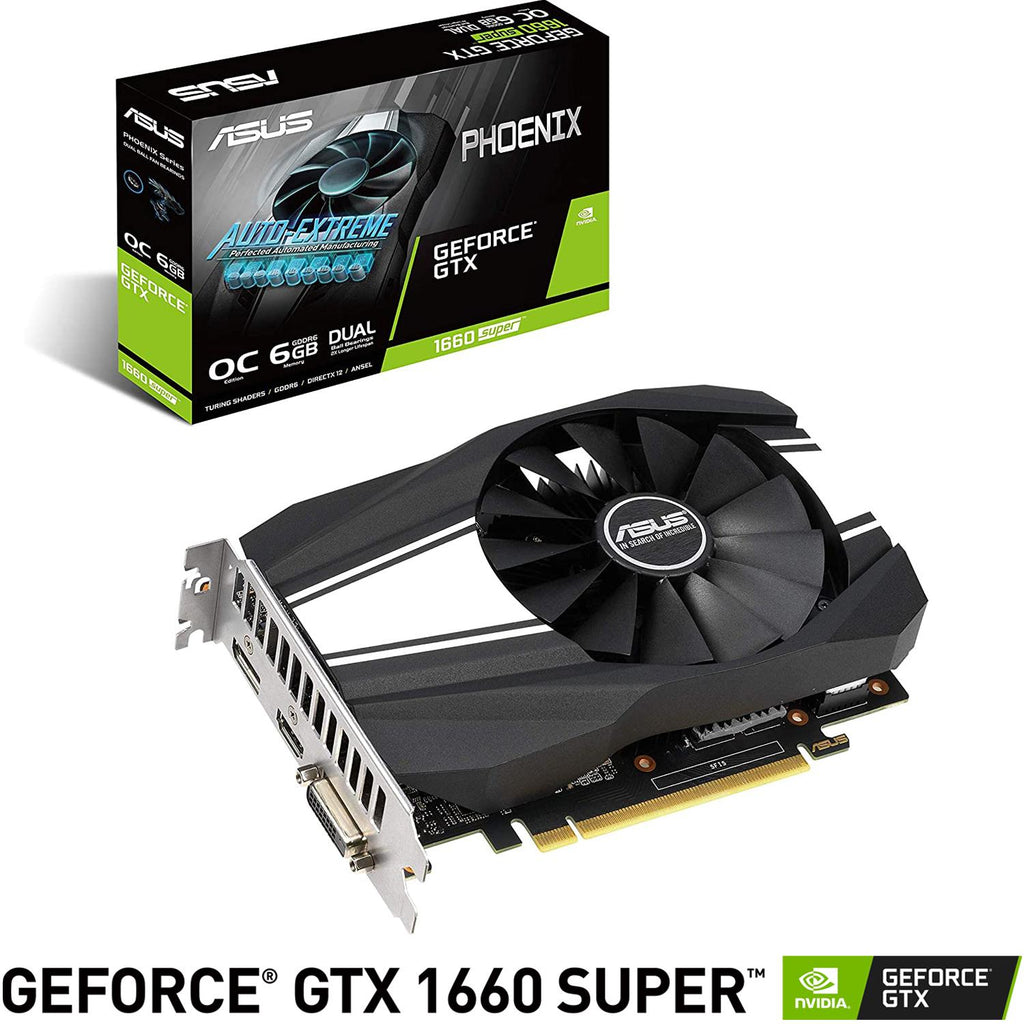 Tarjeta de Video ASUS GeForce GTX 1660 Super Phoenix 6GB GDDR6 PH-GTX1660S-O6G