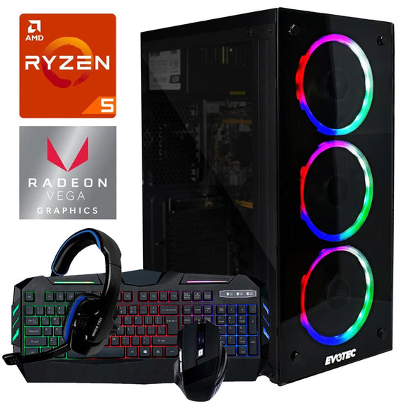 Pc Gamer Xtreme Amd Ryzen 5 3400G Ram 8Gb Disco 1tb Radeon Vega 11 Kit Gamer