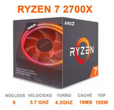Procesador AMD RYZEN 7 2700X 3.7 Ghz 8 Cores Socket AM4