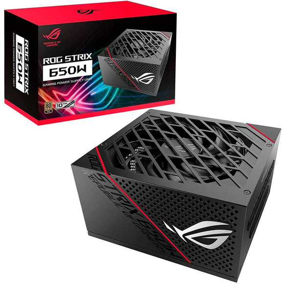 Fuente de Poder PC 650W Gamer ASUS ROG STRIX 80 Plus Gold ROG-STRIX-650G