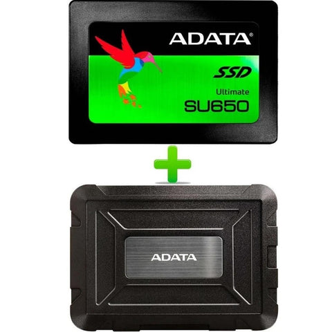 Disco Duro Externo Solido SSD 960GB ADATA SU650 ED600 USB 3.1 Laptop PC