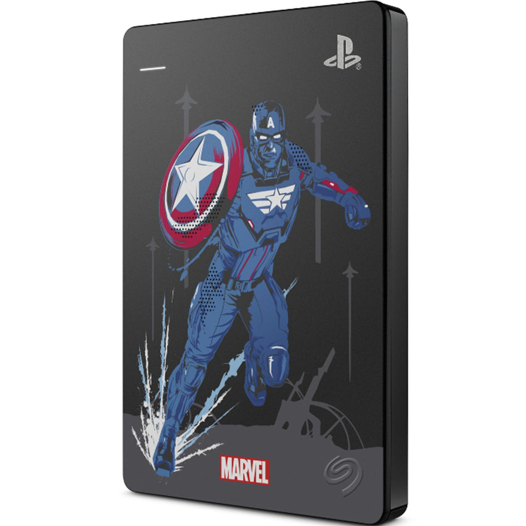 Disco Duro Externo 2TB Seagate Game Drive PS4 PS5 Marvel Avengers STGD2000107 Capitan America