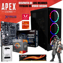 Pc Gamer Xtreme Amd Ryzen 3 3200G Ram 8Gb Disco 1Tb Graficos Vega 8 Monitor Led 21.5