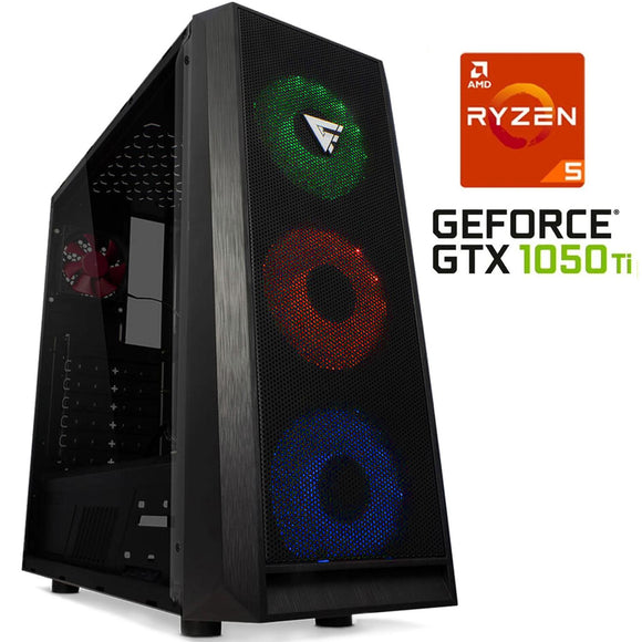 Pc Gamer Xtreme Amd Ryzen 5 2600 Ram 8Gb Disco 1tb Unidad Ssd 240Gb Gtx 1050 Ti