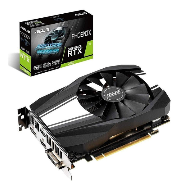 Tarjeta de Video ASUS Phoenix RTX 2060 6GB GDDR6 PH-RTX2060-6G