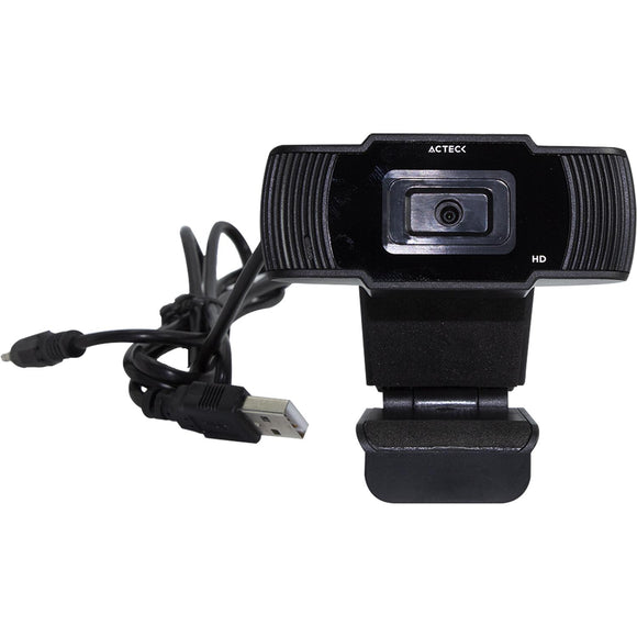 Webcam ACTECK WM20 HD 720P Microfono USB Negro AC-931250
