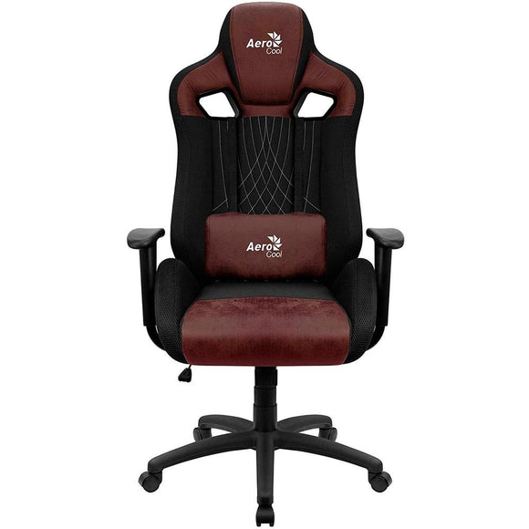 Silla Gaming AEROCOOL EARL BURGUNDY RED Traspirable Ergonomico Polipiel