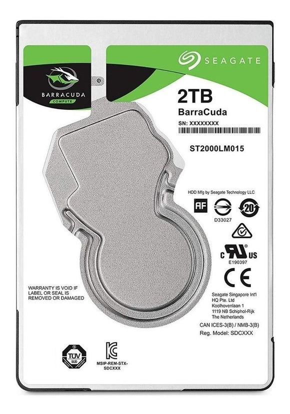 Disco Duro 2TB Laptop SEAGATE Barracuda 2.5 7MM 5400RPM ST2000LM015