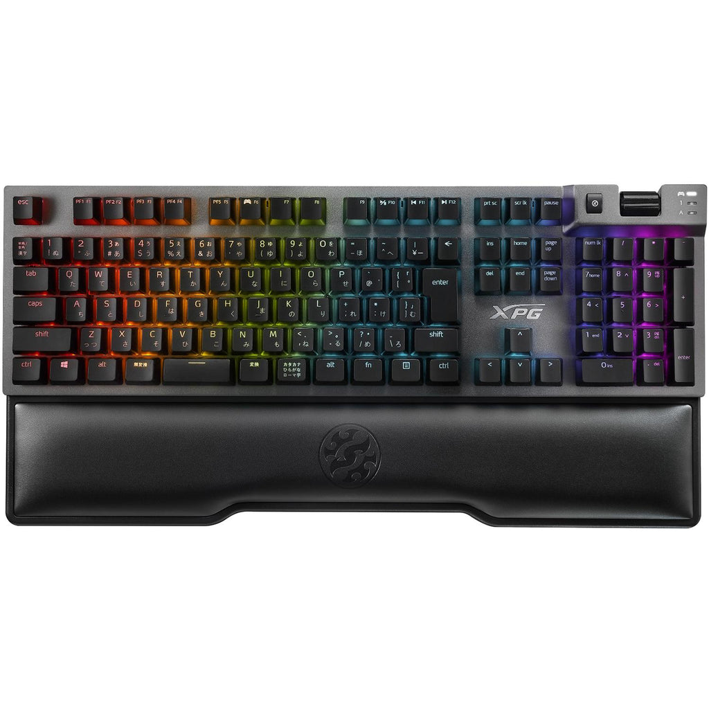 Teclado Gamer Mecanico XPG SUMMONER RGB Cherry MX Silver USB Reposamuñecas SUMMONER5C-BKCES