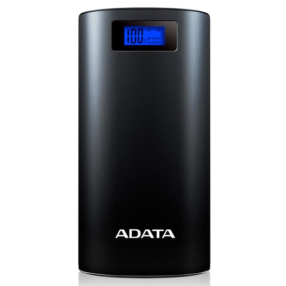 Power Bank 20000MAH ADATA P20000D Bateria Portatil AP20000D-DGT-5V-CBK