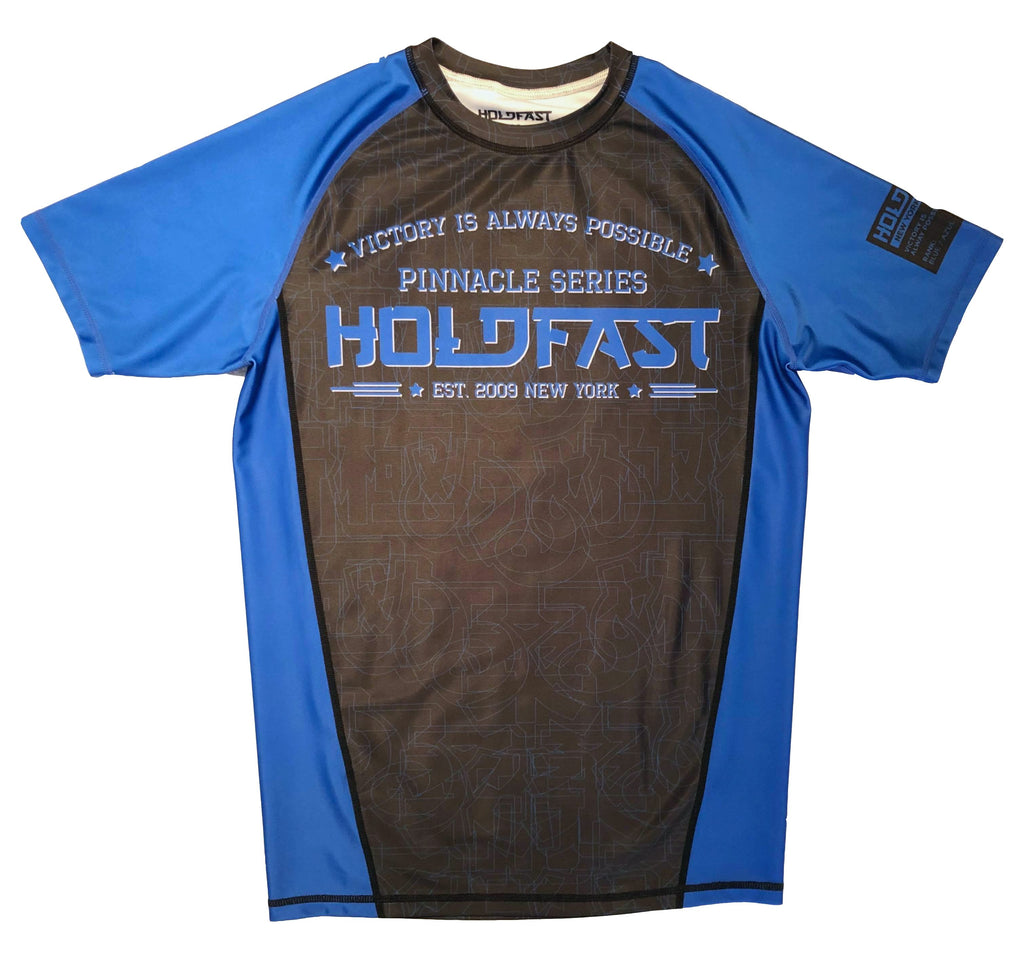 Pinnacle Blue Ranked Short Sleeve Rash Guard