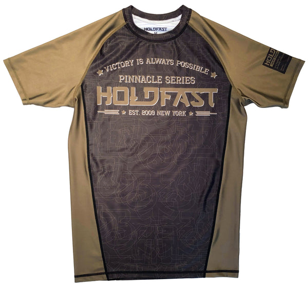 Pinnacle Brown Ranked Short Sleeve Rash Guard